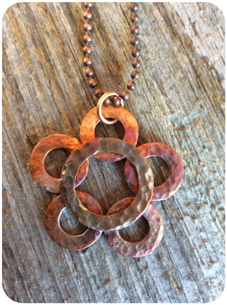 6 Ring Copper Washer Necklace