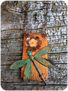 Copper Dragonfly Necklace