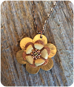 Layered Flower Pendant