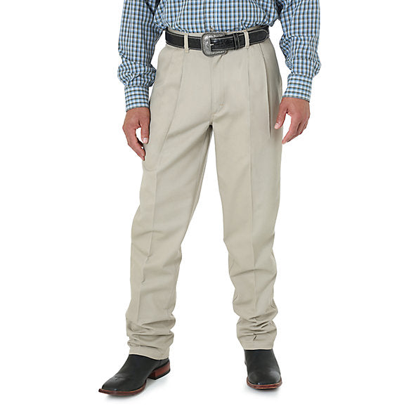 Pants - Wrangler Men's Riata Khaki Relaxed Pants/95KH - Wrangler Pants - Mock Brothers Saddlery and Western Wear