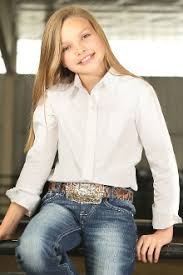 Kids Shirts - CRUEL GIRL GIRLS LONG SLEEVE SHIRT/CTW6640008 - CRUEL GIRL - Mock Brothers Saddlery and Western Wear