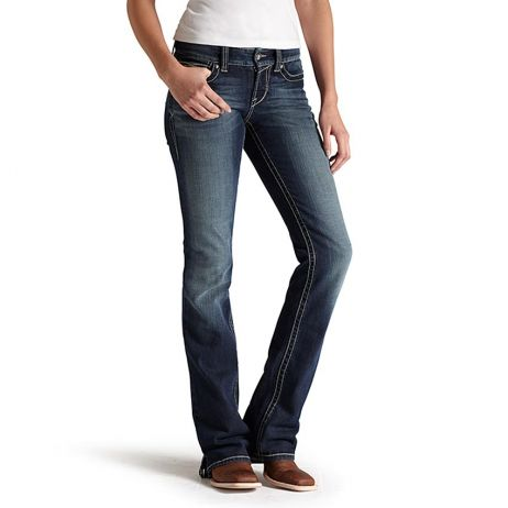 Womens Jeans - Ariat Womens REAL Mid Rise Bootcut Spitfire Jean/10011683 - Ariat - Mock Brothers Saddlery and Western Wear