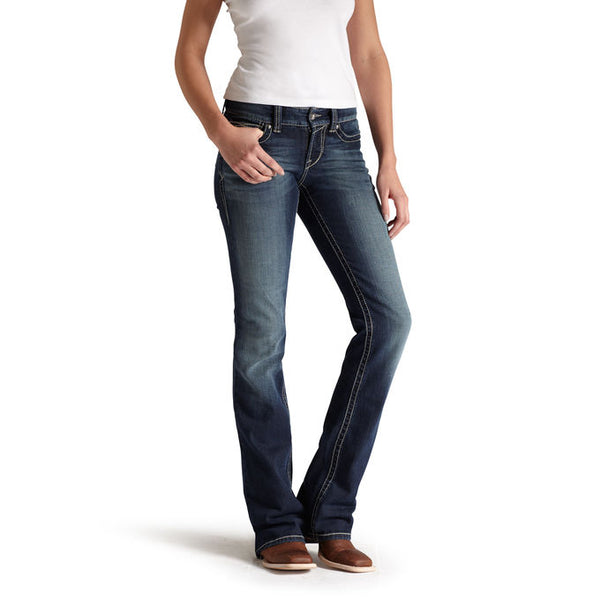 Womens Jeans - Ariat Womens REAL Mid-Rise Bootcut Ocean Jean/10014022 - Ariat - Mock Brothers Saddlery and Western Wear
