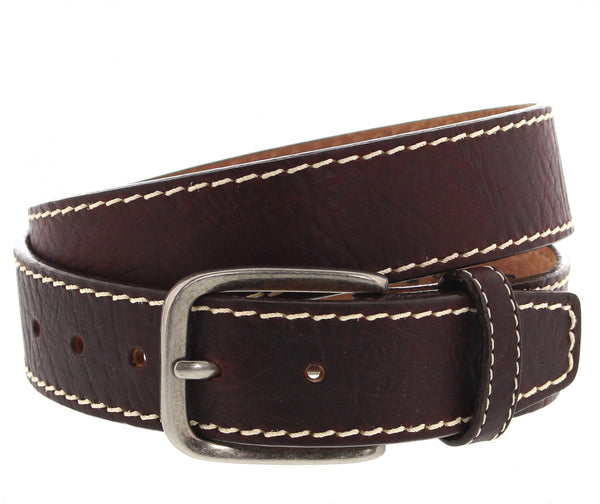 Belts - Justin Men's Bison Boulevard Western belt/C13695 - Justin - Mock Brothers Saddlery and Western Wear