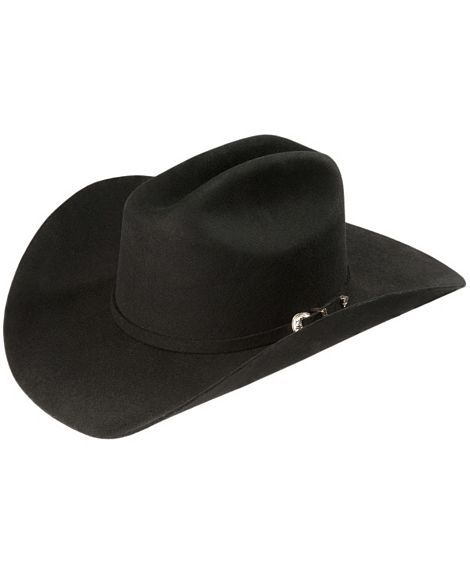 Hats - Black 3X 4.5 Self Band Hat - Resistol - Mock Brothers Saddlery and Western Wear