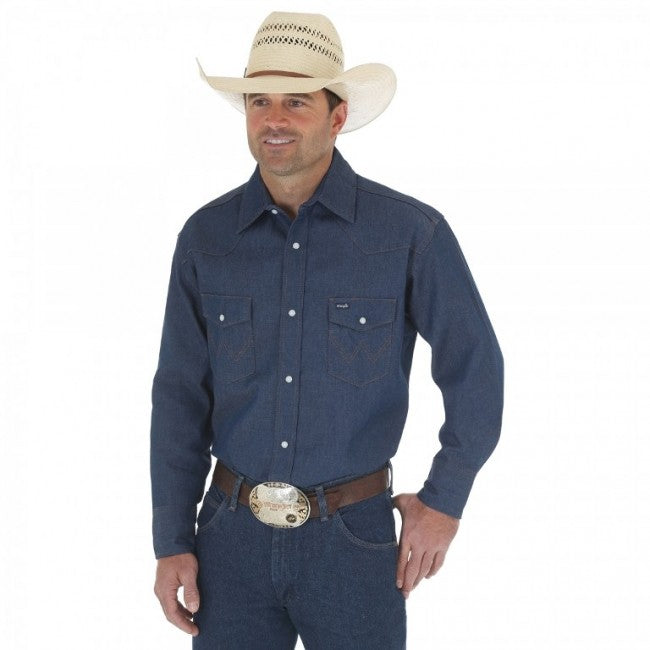 shirts - Wrangler Men's Western Work Shirt Big & Tall/70127BT - Wrangler - Mock Brothers Saddlery and Western Wear