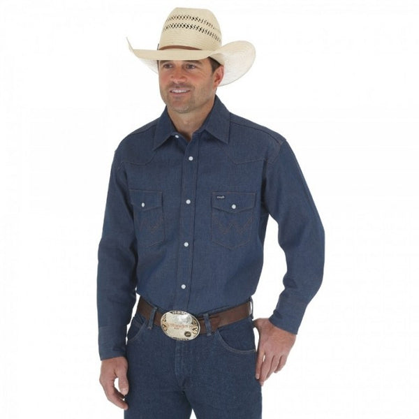 Shirts - Wrangler Western Work Shirt - Wrangler - Mock Brothers Saddlery and Western Wear