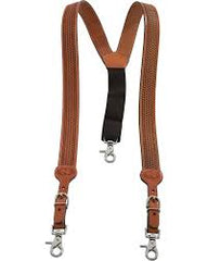 SUSPENDERS - MEN'S LEATHER BASKET STAMPED SUSPENDERS/N8512444/N8512402/N8512401/N8512448 - Nocona - Mock Brothers Saddlery and Western Wear