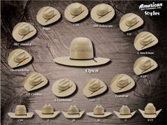 Hats - American 1022 Straw Hat - American Hat Company - Mock Brothers Saddlery and Western Wear