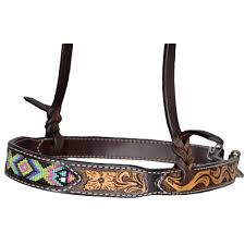OXBOW VEGAS BEADED TOOLED NOSEBAND/201915B