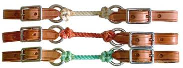 REINS - BERLIN COLORED ROPE CURB STRAPS/H430 - BERLIN - Mock Brothers Saddlery and Western Wear