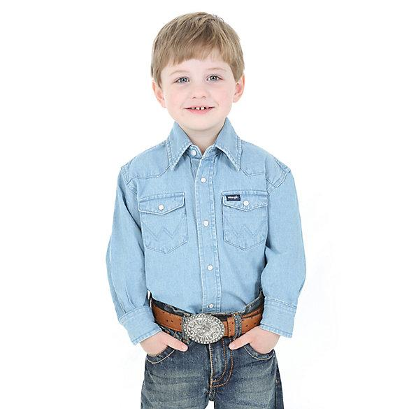 Kids Shirts - KID'S COWBOY CUT® WESTERN SNAP SHIRT/BW1251B - Wrangler - Mock Brothers Saddlery and Western Wear