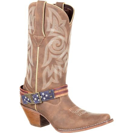 Womens Boots - Durango Ladies Crushed American Flag Boot/DRD0208 - Durango - Mock Brothers Saddlery and Western Wear