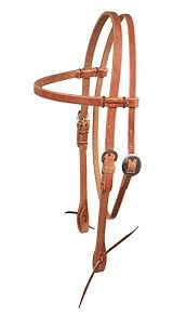 BERLIN BROW BAND HEADSTALL WITH RAWHIDE/H300