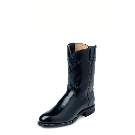 Boots - Justin Black Roper 3133 - Justin - Mock Brothers Saddlery and Western Wear