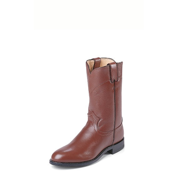 Boots - Justin Brown Roper Boot - Justin - Mock Brothers Saddlery and Western Wear