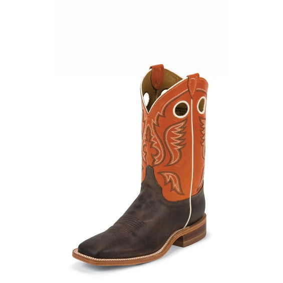 Boots - Justin Men's Austin Orange Boot/BR314 - Justin - Mock Brothers Saddlery and Western Wear