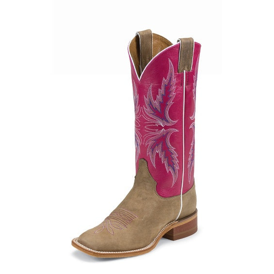 Womens Boots - Justins Ladies Albany Pink Boot/BRL311 - Justin - Mock Brothers Saddlery and Western Wear