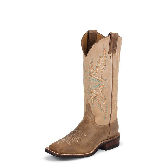 Womens Boots - Justins Ladies Uvalde Mocha Boot/BRL338 - Justin - Mock Brothers Saddlery and Western Wear