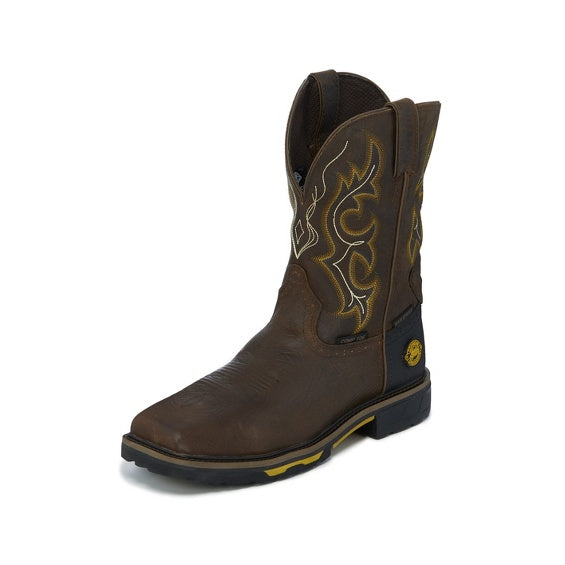 Boots - Justin Men's Joist Rustic Waterproof Comp Toe/WK4625 - Justin - Mock Brothers Saddlery and Western Wear