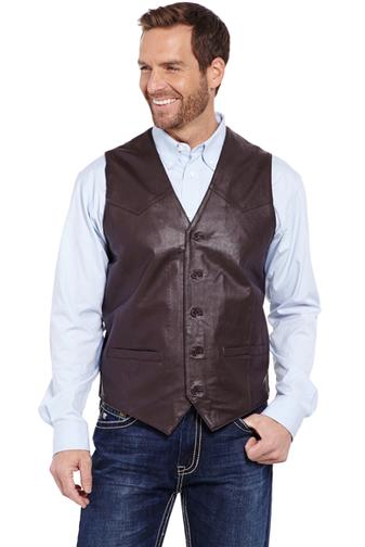 Outerwear - Cripple Creek Men's Nappa Leather Vest/ML3059 - Cripple Creek - Mock Brothers Saddlery and Western Wear