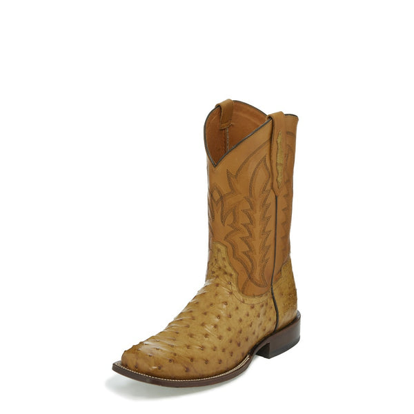 "Boots - Tony Lama Men's 11"" Suntan Full Quill Ostrich - Tony Lama - Mock Brothers Saddlery and Western Wear"