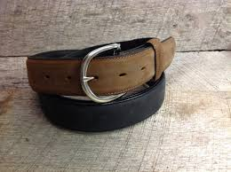 Belts - JUSTIN MEN'S BROWN/BLACK BELT/53700/ X5400 - Justin - Mock Brothers Saddlery and Western Wear