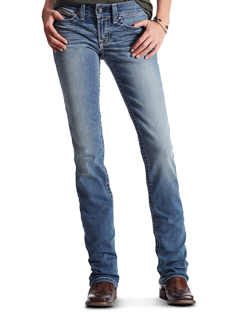 Womens Jeans - Ariat Mid Rise Straight Fit Rainstorm Jean/10017212 - Ariat - Mock Brothers Saddlery and Western Wear