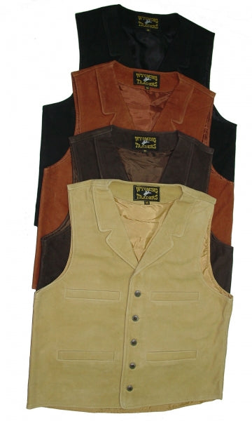 Outerwear - Wyoming Traders Men's Buffalo Vest/TAN - Wyoming Traders - Mock Brothers Saddlery and Western Wear