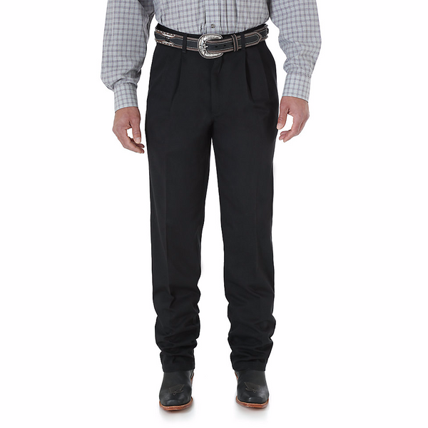 Pants - Wrangler Riata Black Relaxed Pants/95BK - Wrangler - Mock Brothers Saddlery and Western Wear