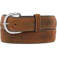 Belts - Justin Western Classic Brown Belt/53709/X5409 - Justin - Mock Brothers Saddlery and Western Wear