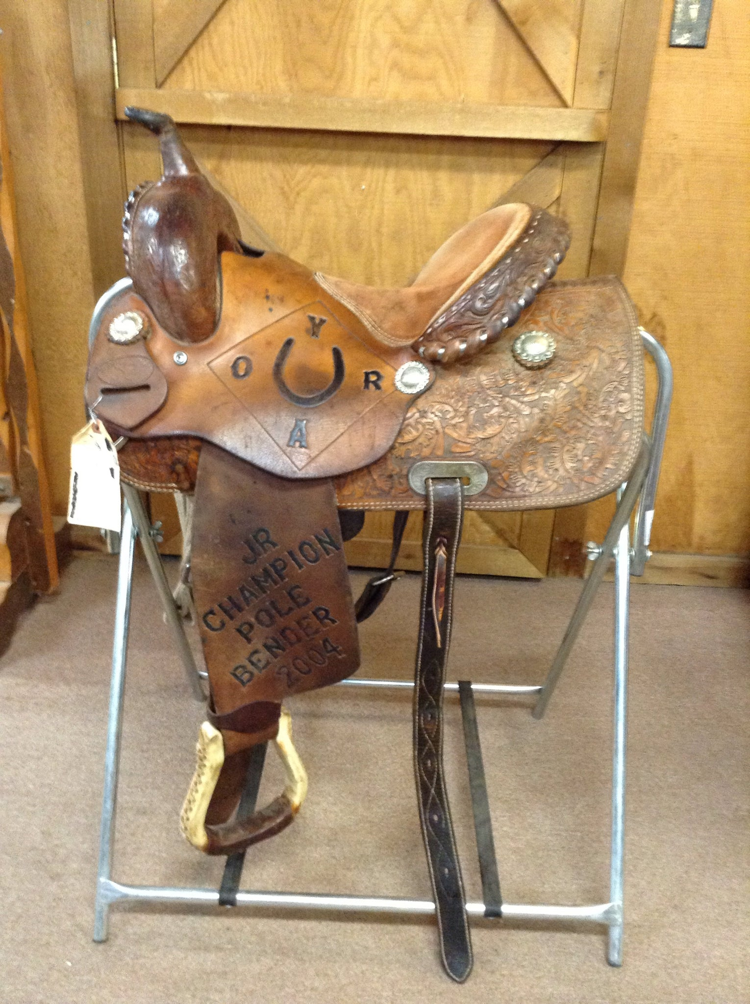"saddle - USED SADDLE SHOP TWISTER  BARREL RACER 13 1/2""/BC1705408GM - SADDLE SHOP TWISTER - Mock Brothers Saddlery and Western Wear"