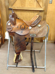 saddle - USED SADDLE SHOP TWISTER  BARREL RACER 13 1/2