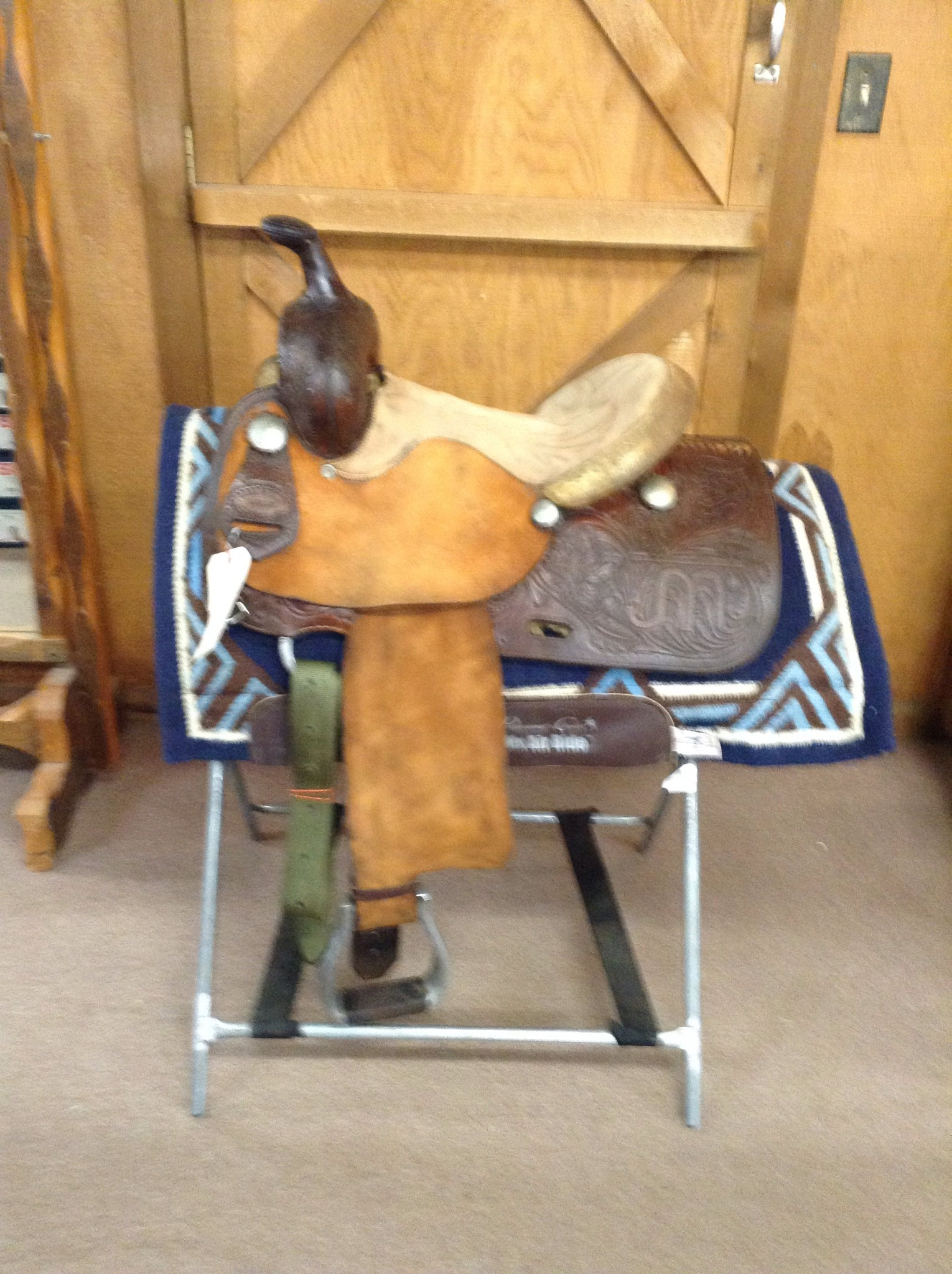 "saddle - Used Cecil Phillips Barrel Racer/SK1/13 1/2"" - Cecil Phillips - Mock Brothers Saddlery and Western Wear"