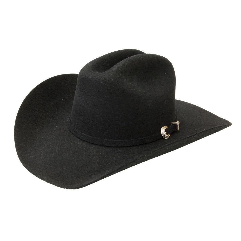 Hats - Justin 3X Rodeo Black Felt Hat - Justin - Mock Brothers Saddlery and Western Wear