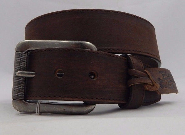 Belts - Mens Justin Brown Bomber Leather Belt/C11745 - Justin - Mock Brothers Saddlery and Western Wear