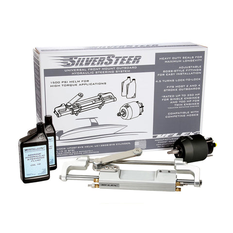 Uflex SilverSteer™ 2.0 High-Performance Front Mount Outboard Hydraulic Steering System - 1500PSI FM V2