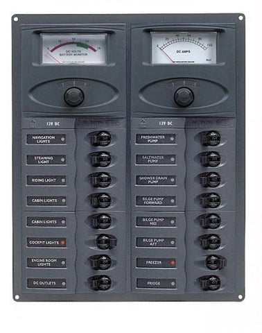 BEP 904-AM 16 Way DC Circuit Breaker Panel - Manninen Marine