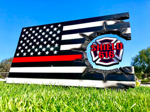 Shield 616 Thin Red Line Series - American Flag