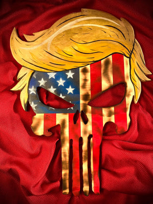 Wooden Trump American Flag Punisher
