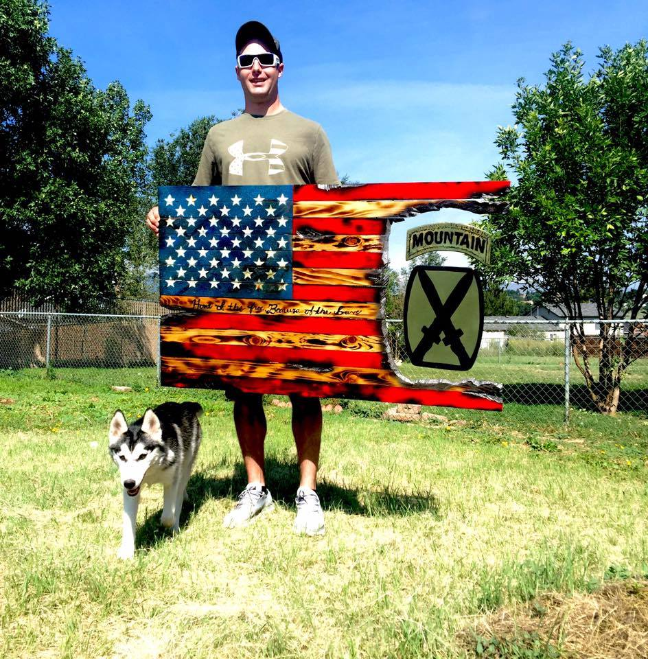 4' American Flag - 10th Mountain Subdued