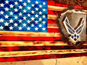 "32"" Floating Air Force Flag - Distressed"