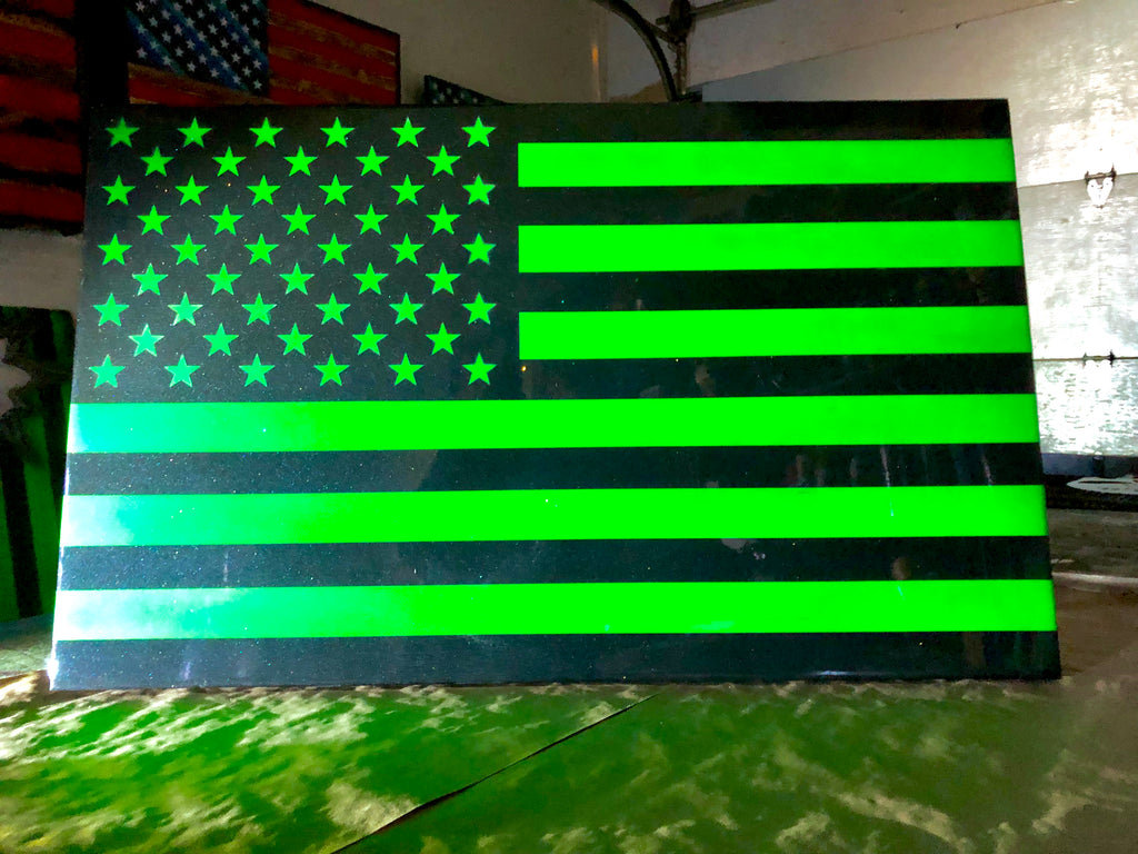 Night Vision Series - Wooden American Flag