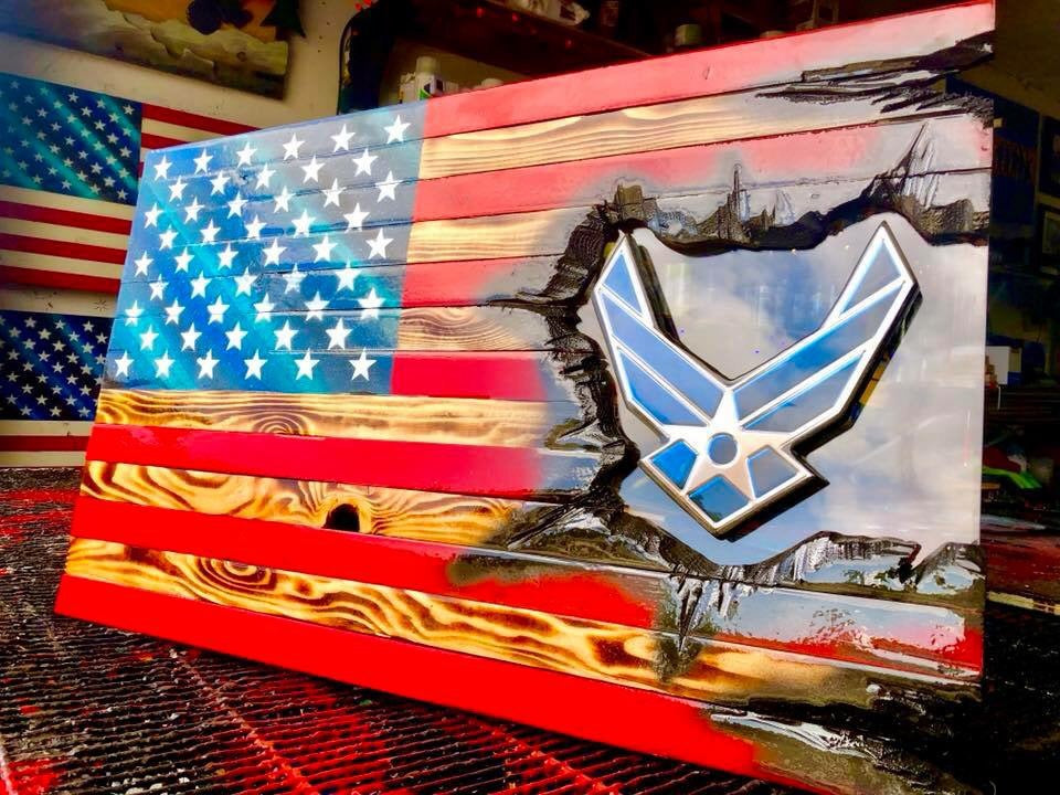 "32"" American Flag - Airforce Patch Series"