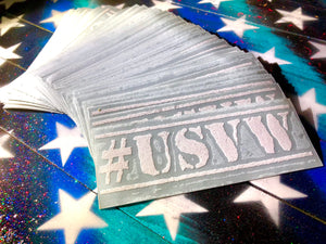 "5"" USVW Decals (white)"