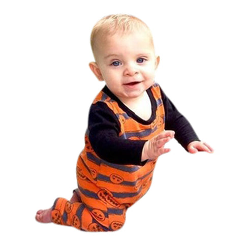 Baby Halloween Pumpkin Romper - Tiny Closet