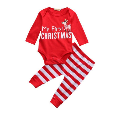 Adorable My First Christmas Jumpsuit - Tiny Closet