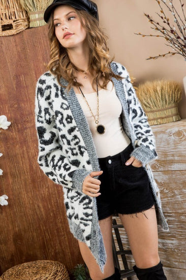 Leopard Lover Cardigan Black