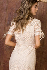 Lady in Love Lace Dress White
