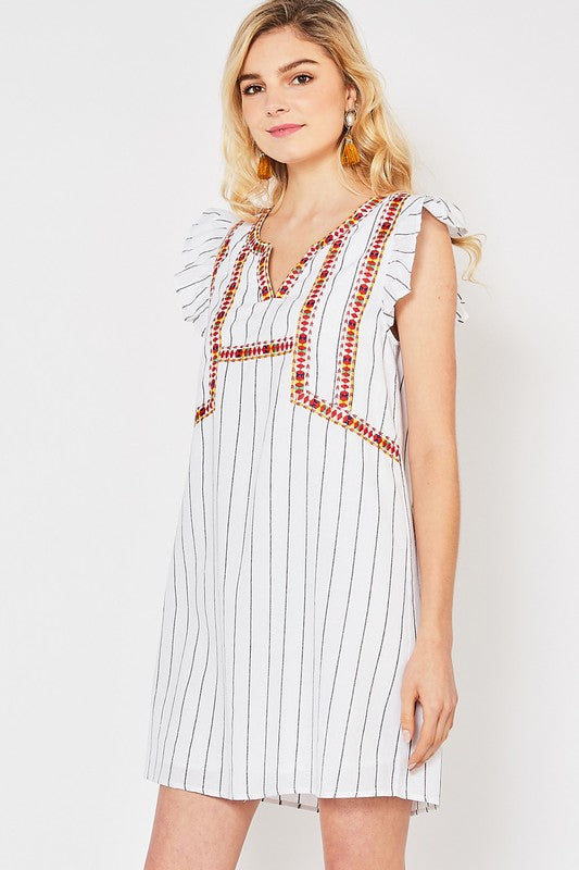 Moroccan Nights Dress Ivory